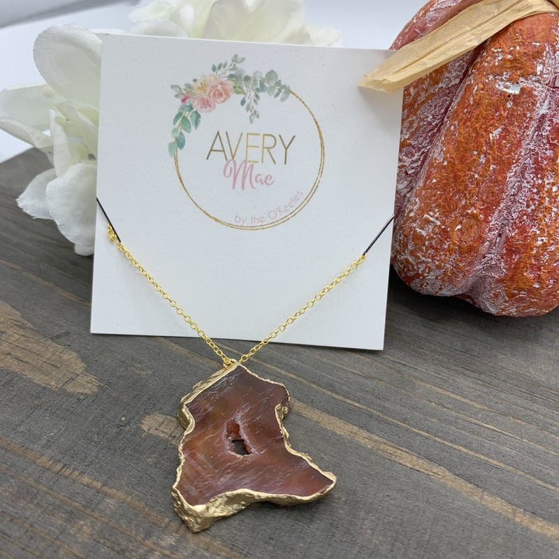 Rose Druzy Avery Mae Exclusive Necklace
