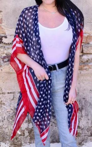 Draped in Americana Kimono