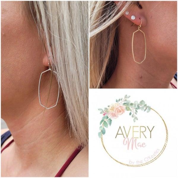 Geometric Love Earrings - 2 colors!