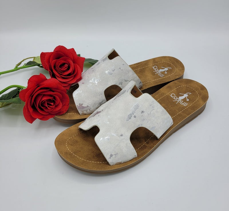 Fancy Cow Corky Sandals