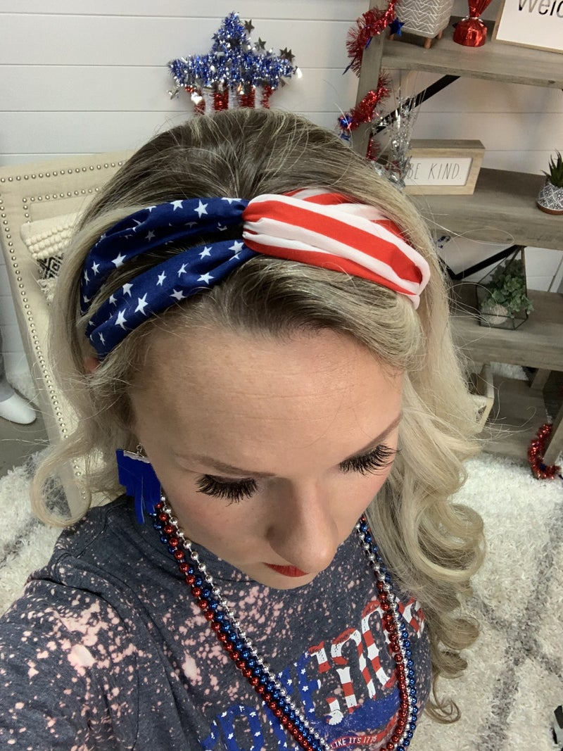 Red White and Blue Headbands