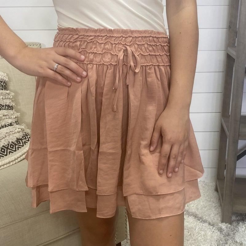 Smocked Layered Skirt - 2 colors!