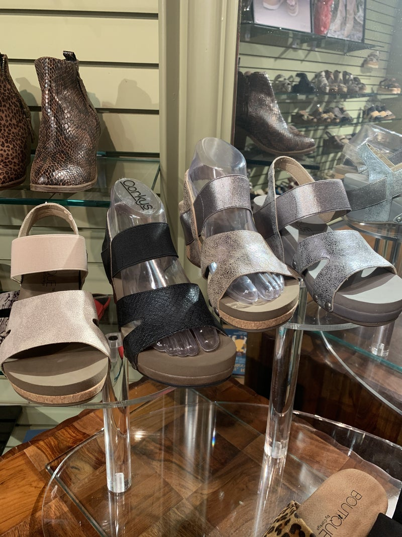 Walking With Style Corky Wedge - 4 colors!