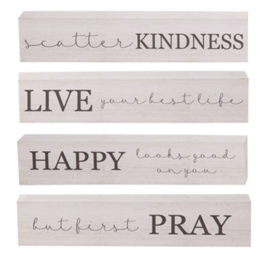 Words of Encouragement Block - 4 sayings!