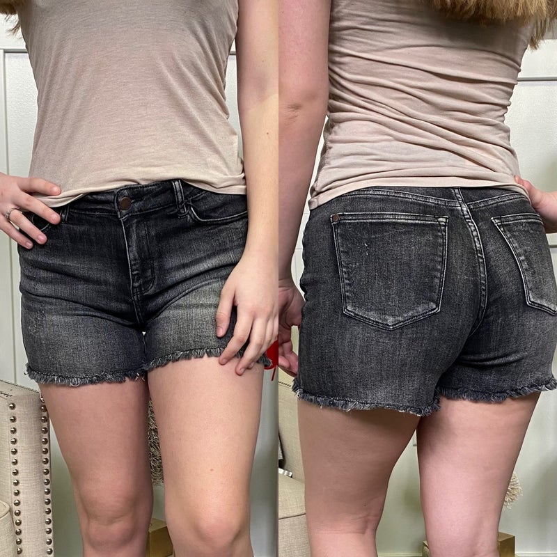 High Rise Black Washed Judy Blue Shorts