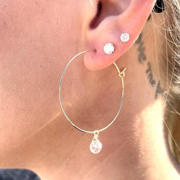 Crystal Clear Earrings - 2 colors!