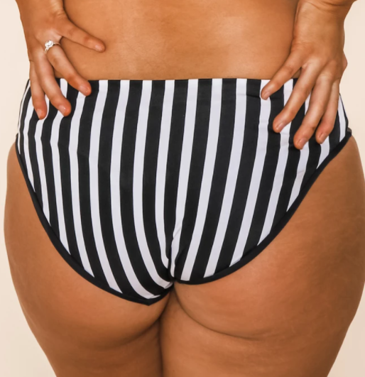 Blow the Whistle Ref Low Rise Reversible Swim Bottoms