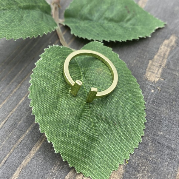 Gold Open Ended Adjustable Ring