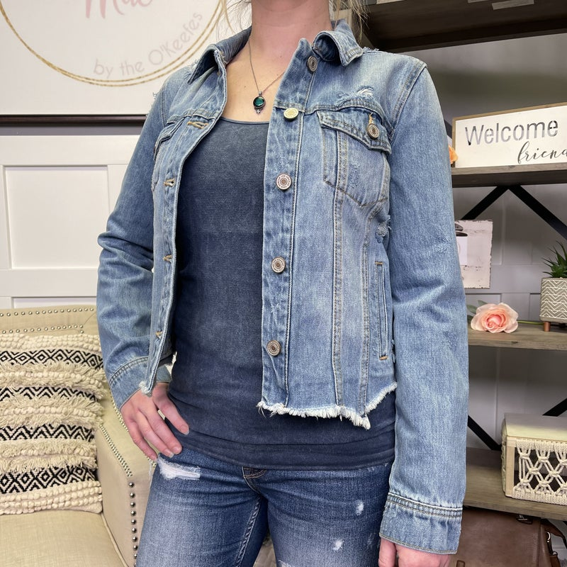 Rockelle Distressed Denim Jacket