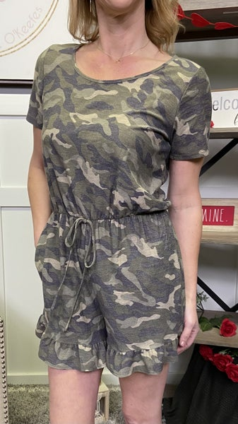 Camo With Me Honeyme Romper