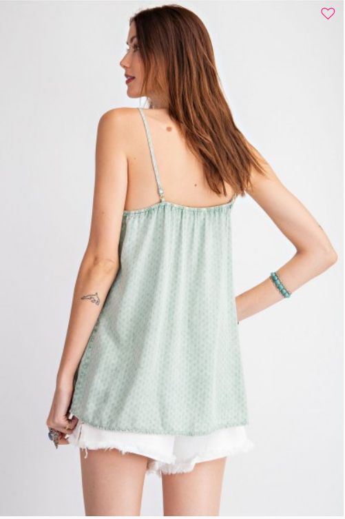 Textured Lace Accent Tank