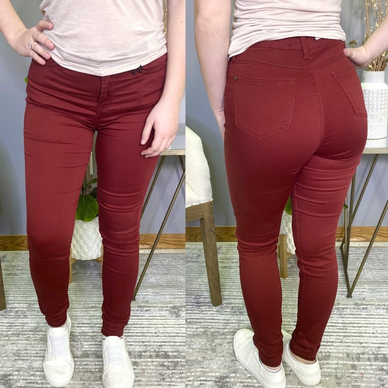 Wine Time Non Distressed Judy Blue Jeans