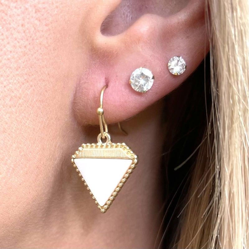 Cutting Diamonds Stone Earrings - 2 colors!