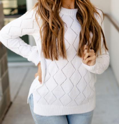 Soft Ivory Ampersand Avenue Sweater