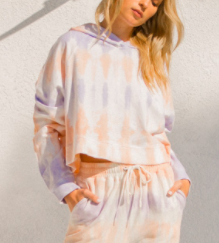 Hanging in There Cropped Hoodie