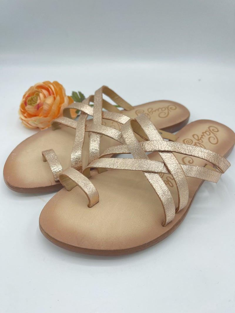 Golden Glow Sandals