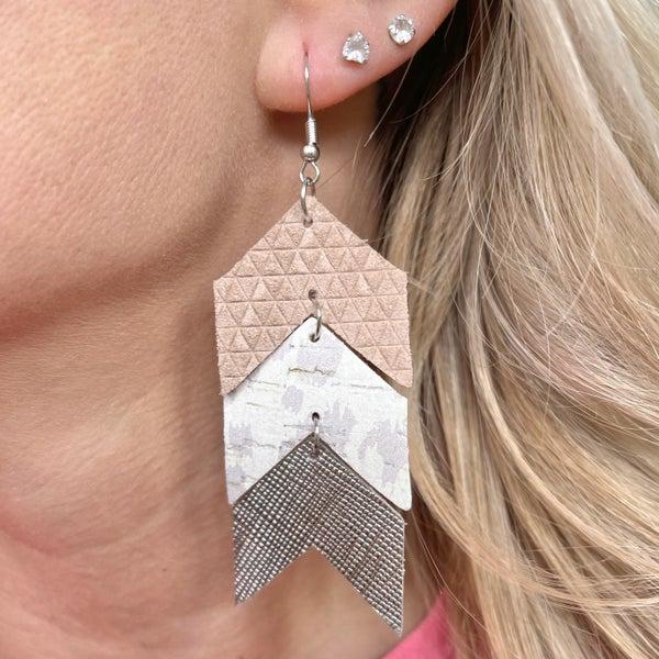 Neutral Arrow Earrings