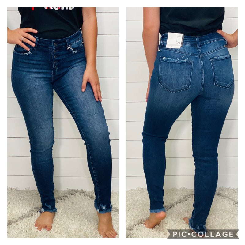 High Rise Dark KanCan Jeans