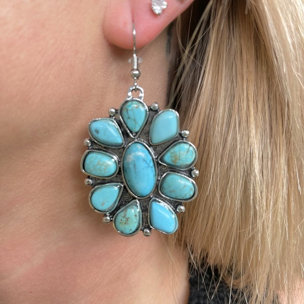 Forever & Ever Stone Flower Earrings