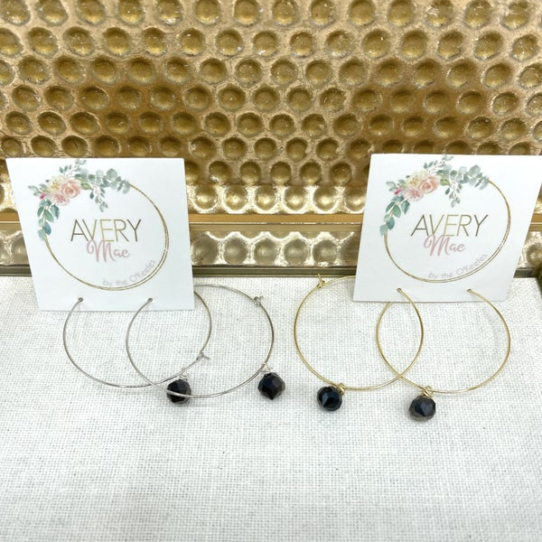 Perfect Opaque Avery Mae Exclusive Hoops - 2 colors!