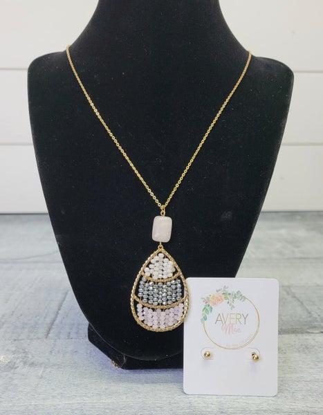International Love Necklace & Earring Set