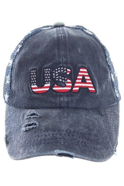 U.S.A Distressed Hat