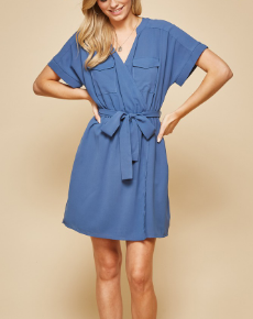 Solid Dolman Sleeves Andree Dress