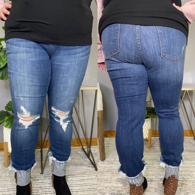 Distressed Cuffed Judy Blue Jeans