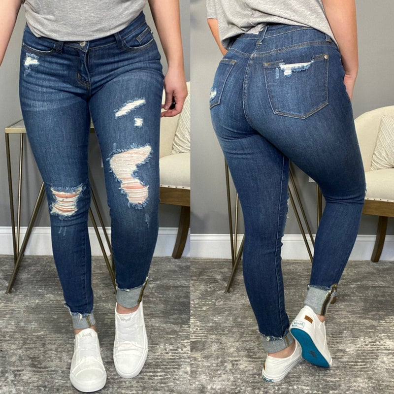 The Katie Cuff Skinny Judy Blue Jeans