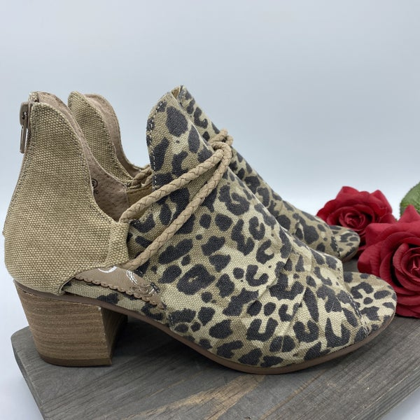 Hot Leopard Open Toe Heel