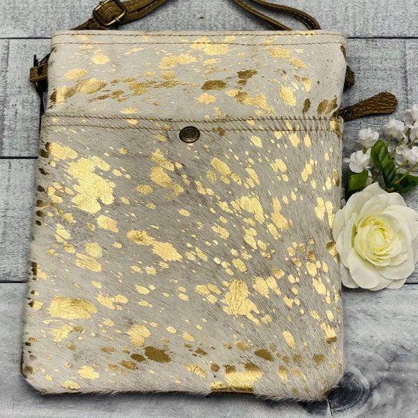 Shiny Speckled Hair-on Myra Bag Crossbody