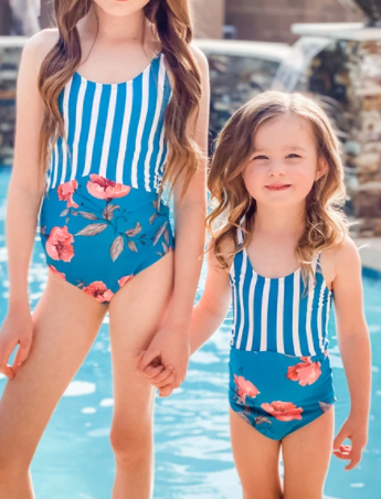 Beach Day Kids One Piece Swimsuit - FINAL SALE