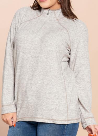 3/4 Zip Essential Pullover