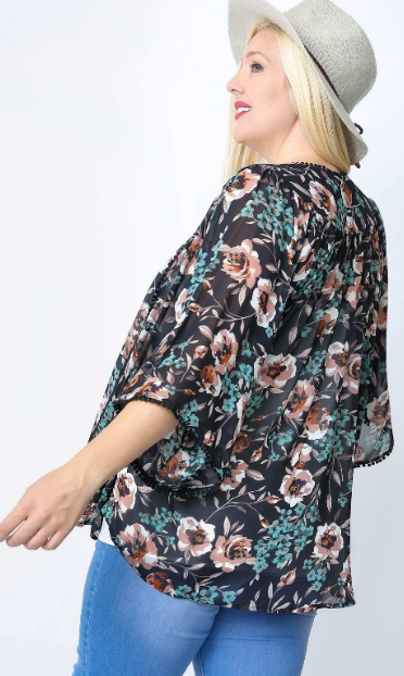 Neutral Floral Kimono