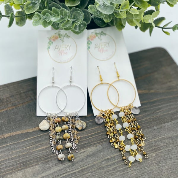 Neutral Stones Avery Mae Exclusive Earrings - 2 colors!
