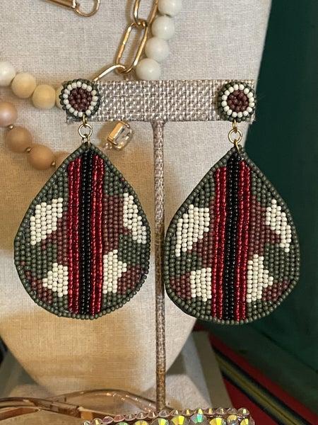 Camo Love Earrings
