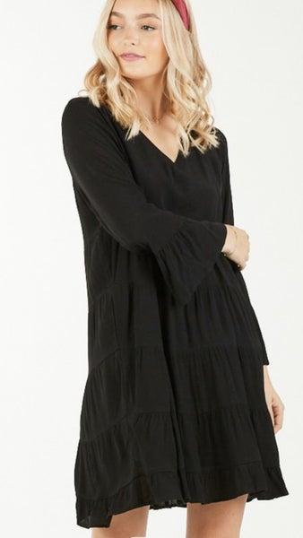 Boho Black Dress