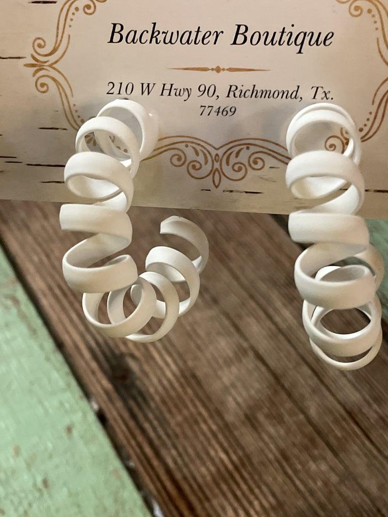 Spiral Loop Earrings