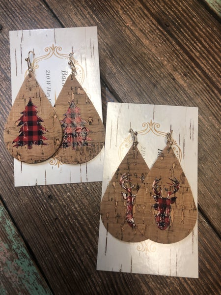 Buffalo Plaid Holiday Earrings