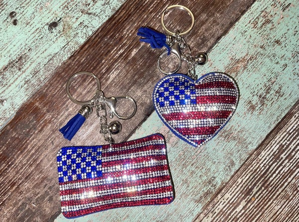 Olympic Deal of the Day Puffy Flag keychain