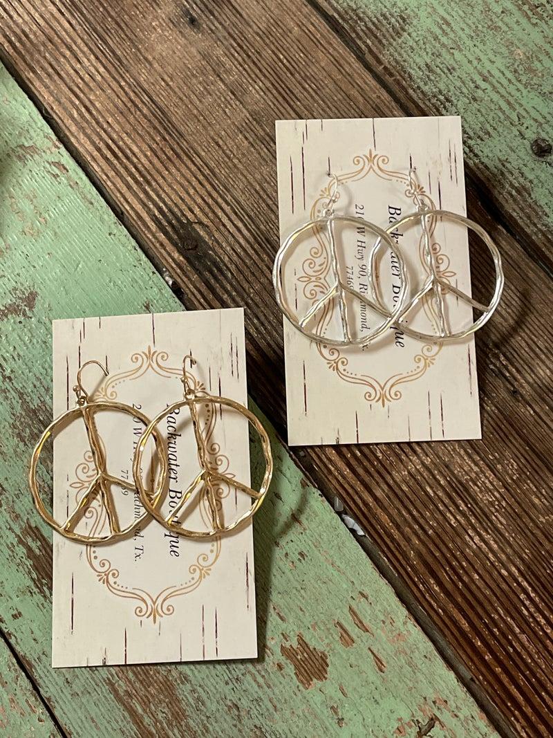 Peace Out Earrings