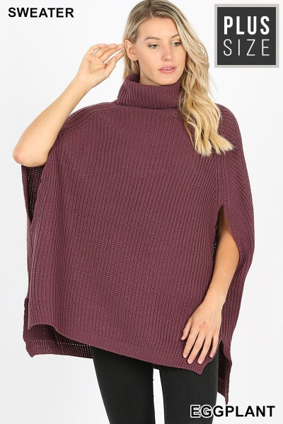 Curvy Girl Poncho Sweater