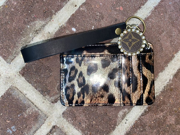Upcycled LV Card Wristlet