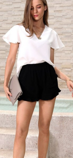 Ruffle Us Shorts