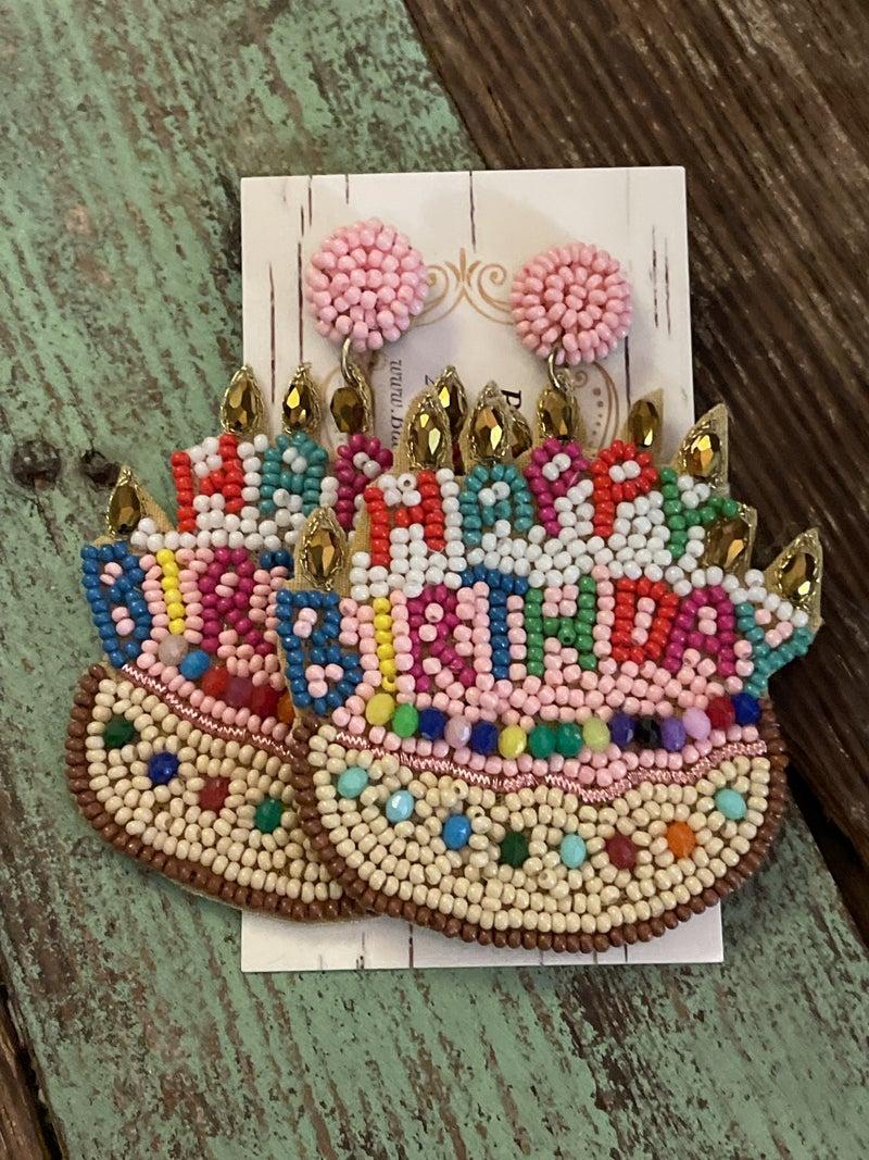 Happy Birthday Earrings