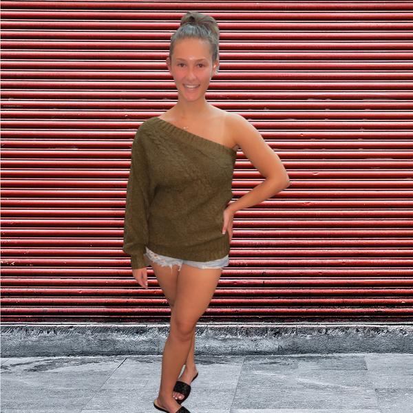 Eva One Shoulder Sweater