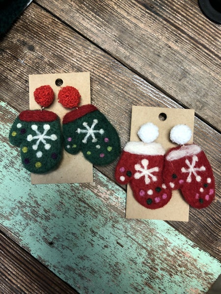 Mittens Earrings