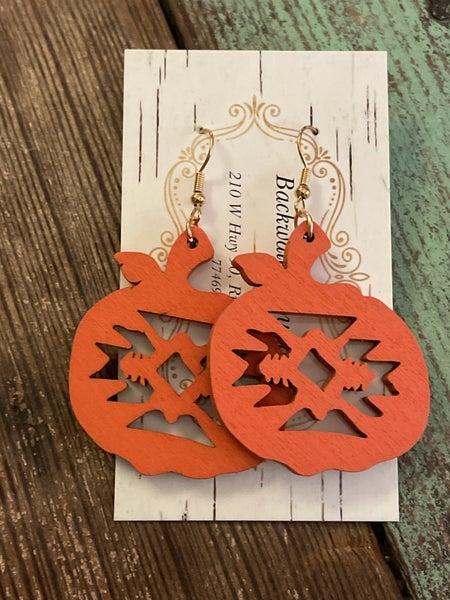 Southwestern Pumpkin Earrings