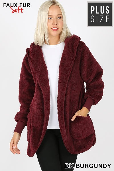 Curvy Girl Hooded Jacket