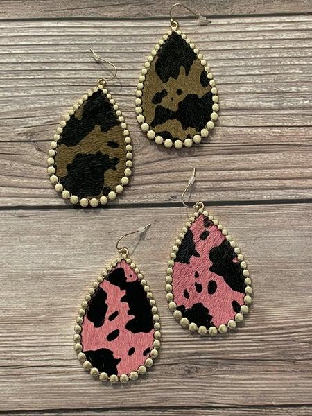 Funky Cowhide Earrings